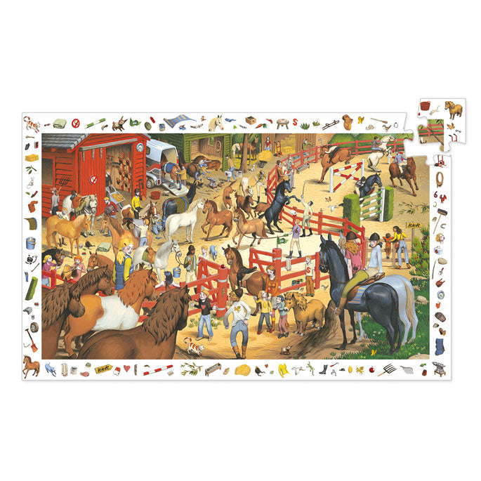 Djeco Observation Puzzle Horse Riding 200 Pieces