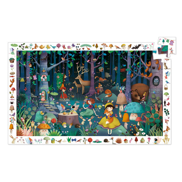 Puzzles Djeco Observation Puzzle Enchanted Forest 100 Pieces
