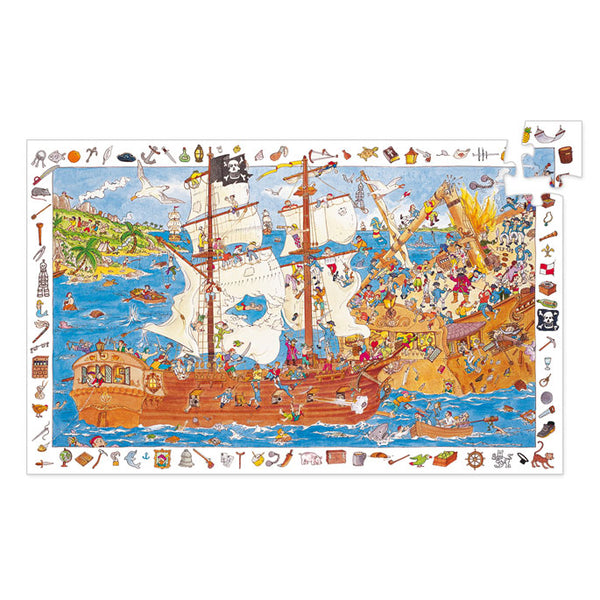 Puzzles Djeco Observation Puzzle Pirates 100 Pieces