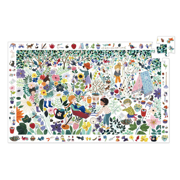 Djeco Observation Puzzle 1000 Flowers 100 Pieces