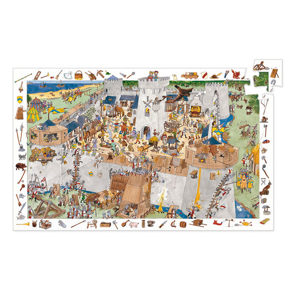 Puzzles Djeco Observation Puzzle Fortified Castle 100 Pieces