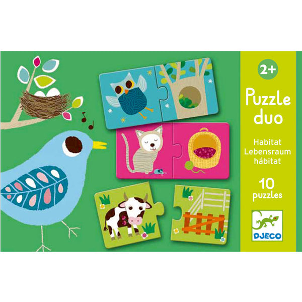 Puzzles For Toddlers Djeco Duo Puzzle Habitat