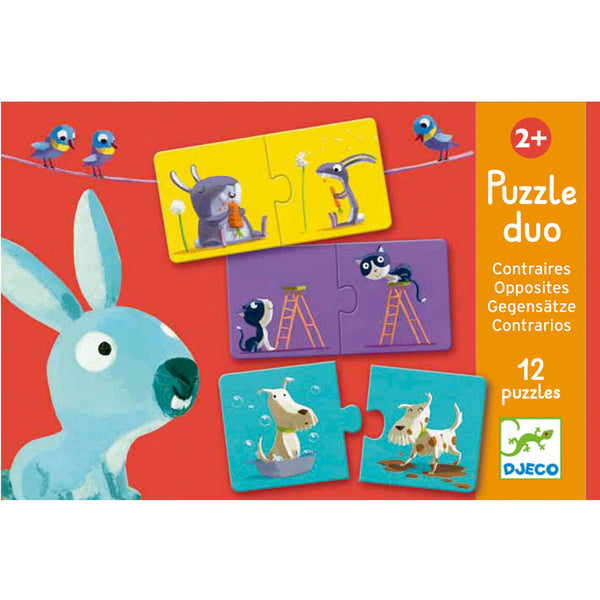 Puzzles For Toddlers Djeco Duo Puzzle Opposites