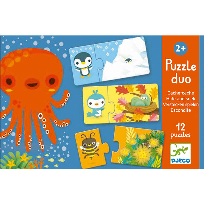Puzzles For Toddlers Djeco Duo Puzzle Hide & Seek