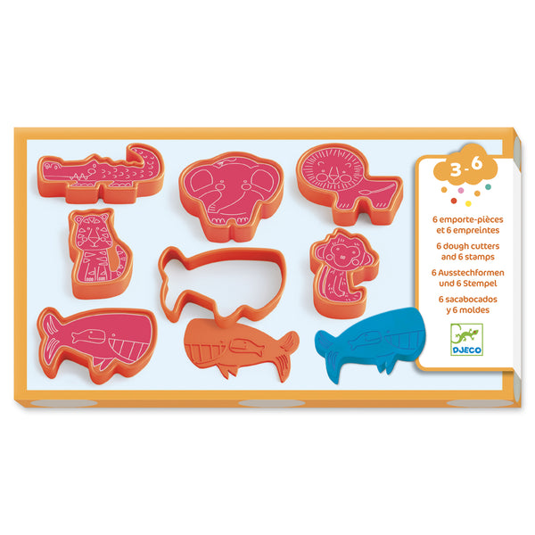 Djeco Play Dough Press Moulds Wild Animals