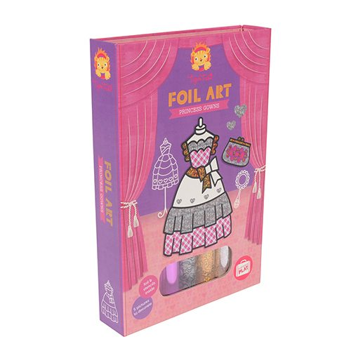 Tiger Tribe Foil Art Princess Gowns 6 0235