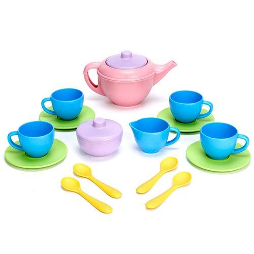 Green Toys Pink Tea Set TEA01R