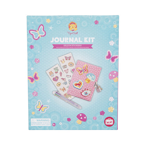 Tiger Tribe - Journal Kit - Sequins Stickers 6-0615