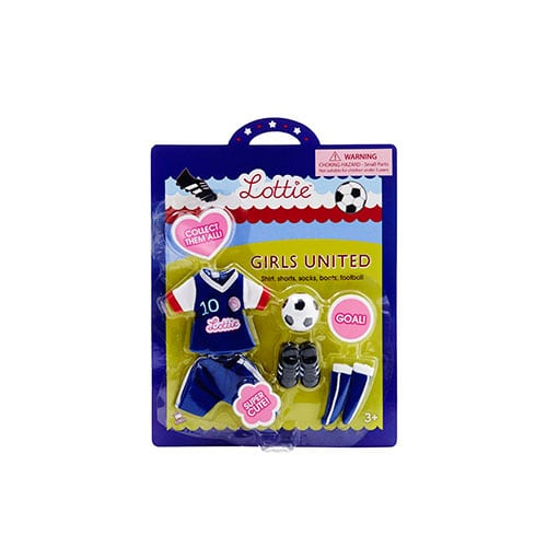 Lottie Doll Outfit Set Girls United (Football) LT038