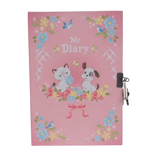 Tiger Tribe Lockable Diary Kittens & Puppies 6 1601