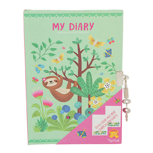 Tiger Tribe Lockable Diary Tropical Sloth 6 1606