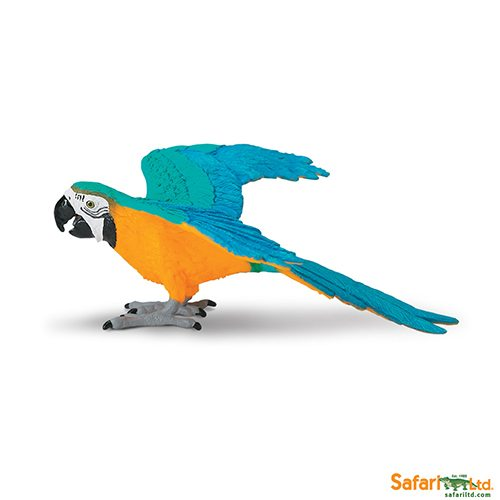 Safari Ltd Blue & Gold Macaw (Wings Of The World Birds) 264029