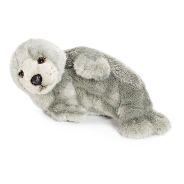 WWF Plush Seal Grey On Side