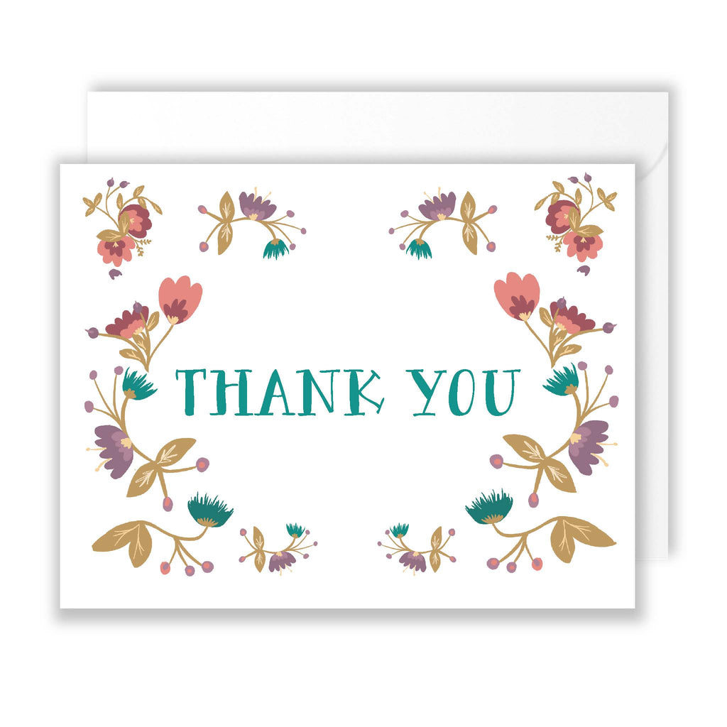Floral Board Thank You Pack of 10