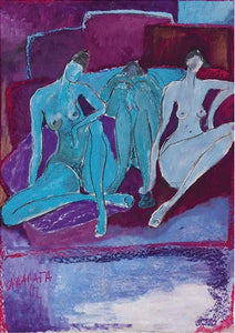 Nude three woman