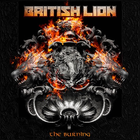 The Burning CD British Lion 6-panel fold out 20 page booklet digital download