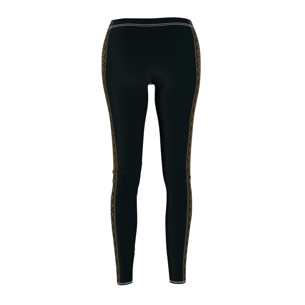 Printify Leggings Berber Gold Stripe Mid-Rise Leggings