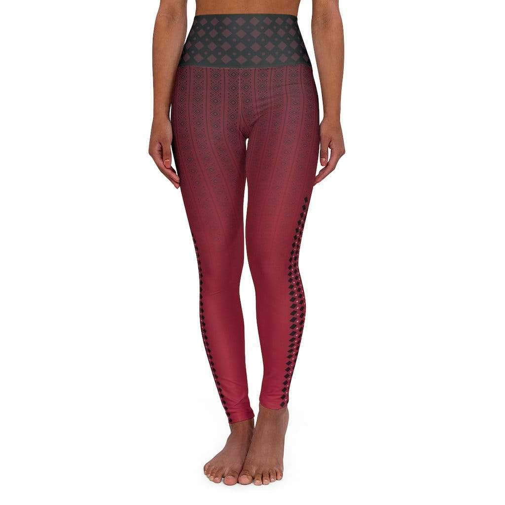 Printify All Over Prints 2XL High Waisted Yoga Leggings