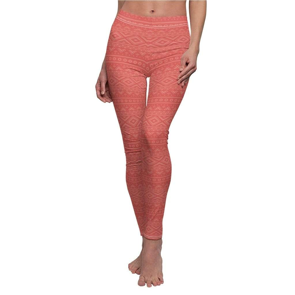 Printify Leggings Red Hendira Mid-Rise Leggings