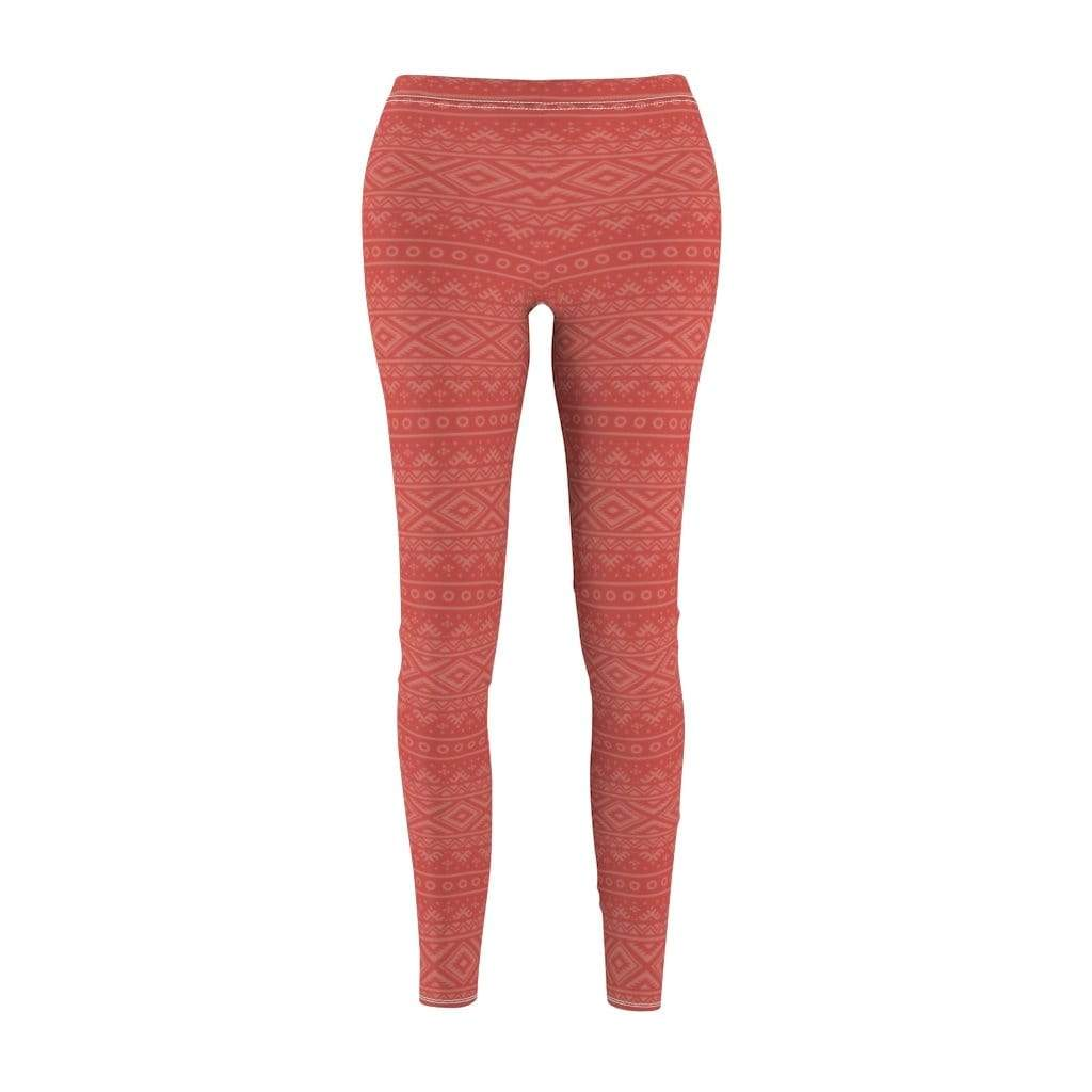 Printify Leggings M Red Hendira Mid-Rise Leggings