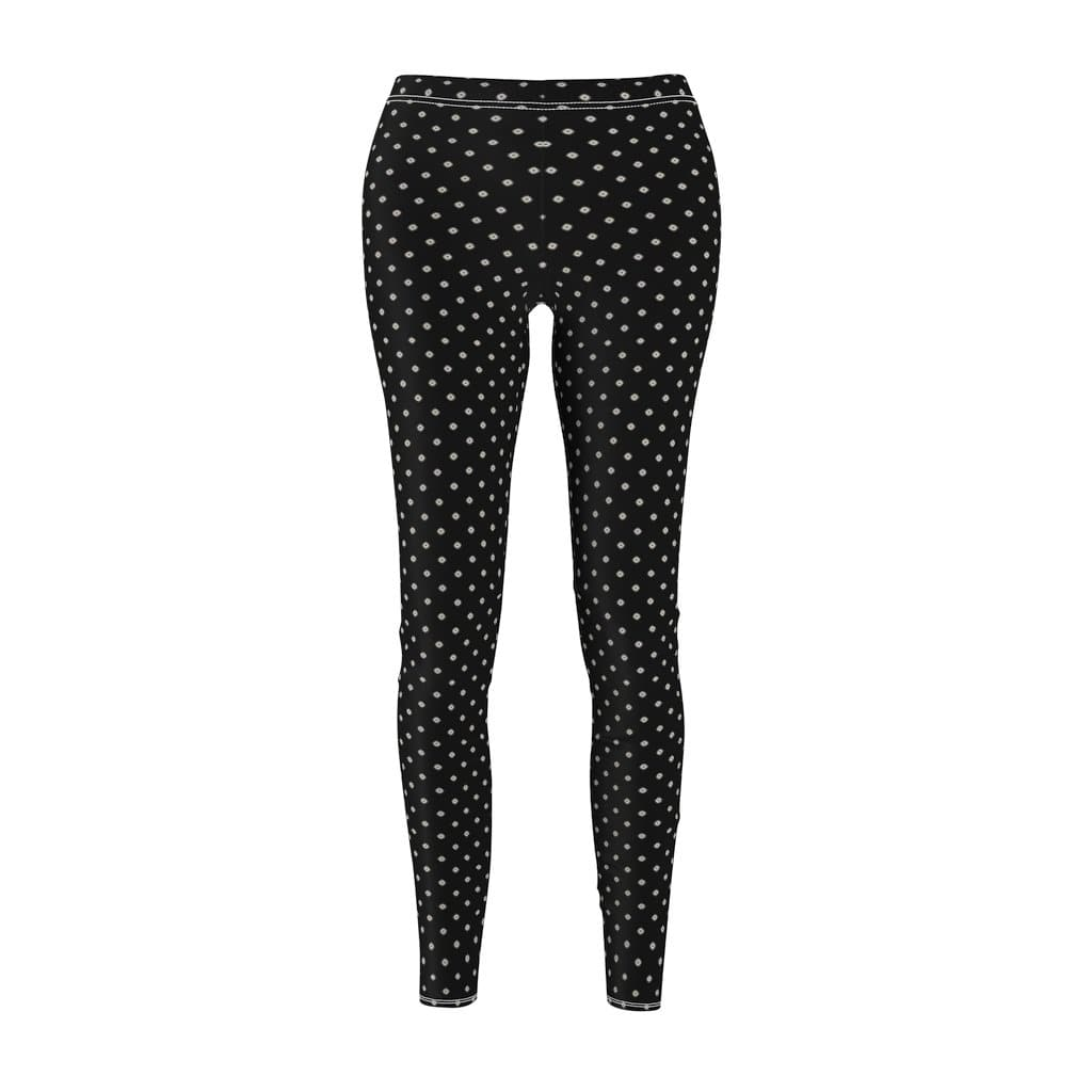Printify All Over Prints White / M Women's Cut & Sew Casual Leggings
