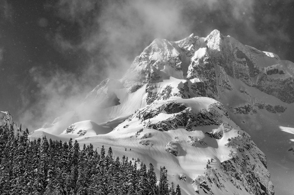 Backcountry snowboarding landscape photography for home decor