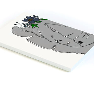Floral Rhino - Lined Notebook