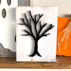 Spooky Tree, Black and White Halloween Decor
