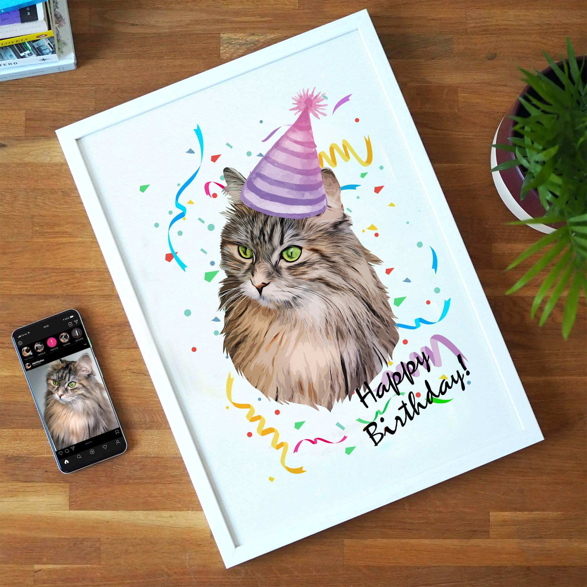 Personalised Pet Print - Happy Birthday