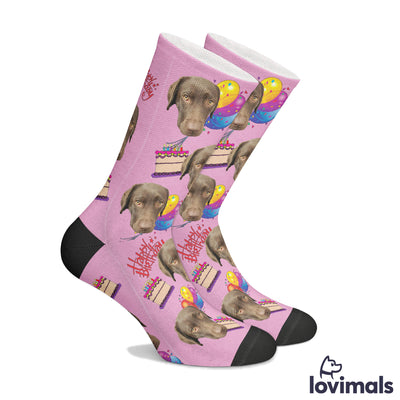 Customizable Birthday Pet Socks
