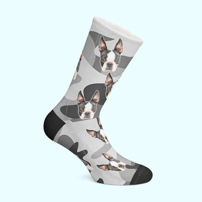 Customizable - Camo Pet Socks