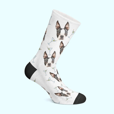 Customizable - Martini Pet Socks