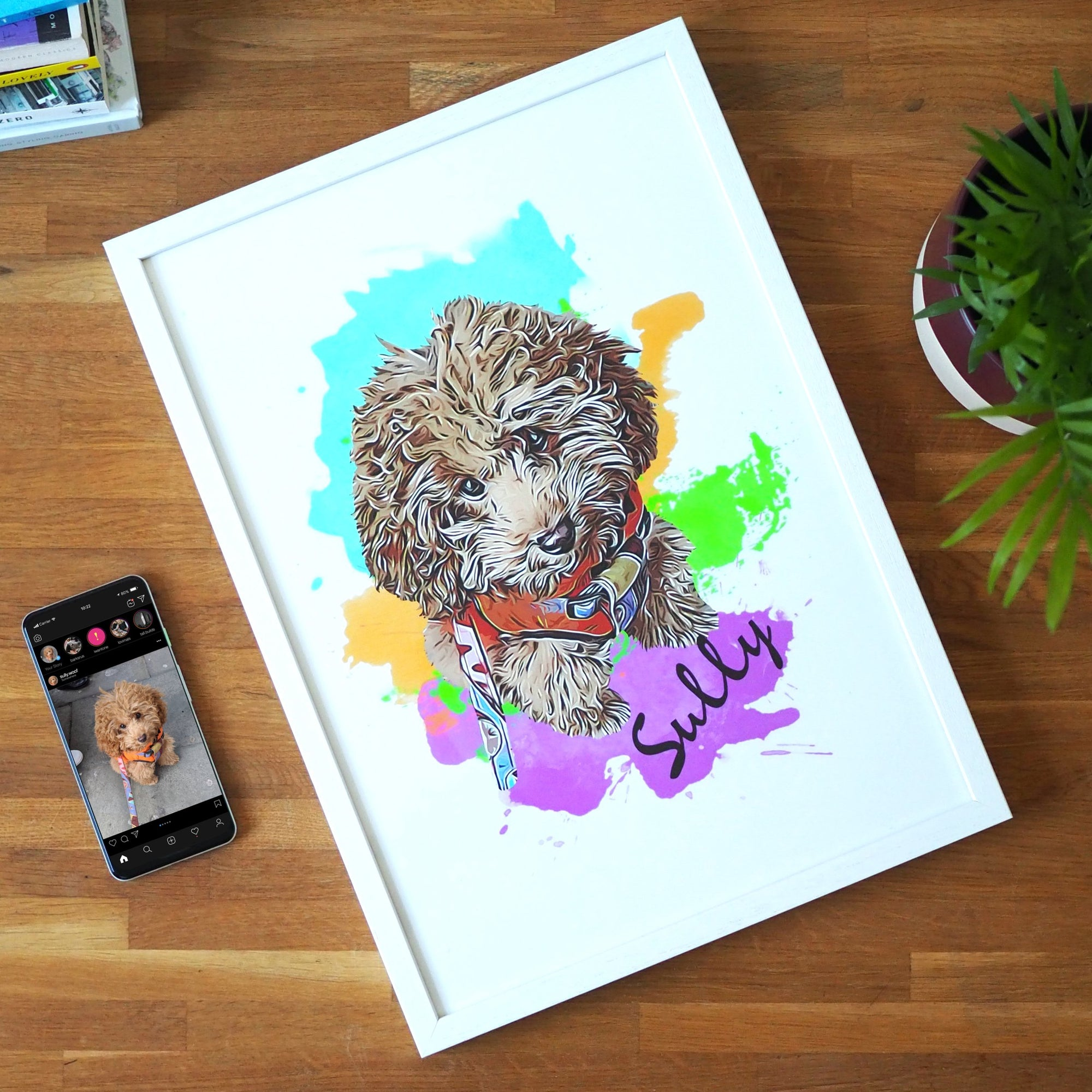 Personalised Pet Print - Watercolors