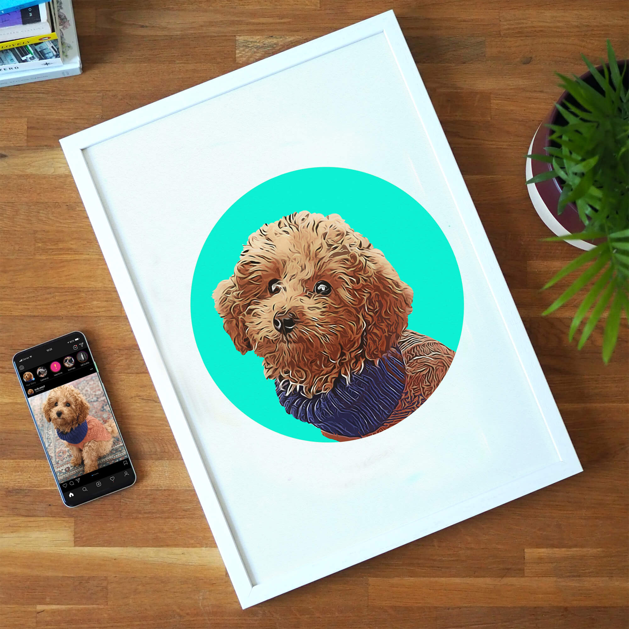 Personalised Pet Print - Circles