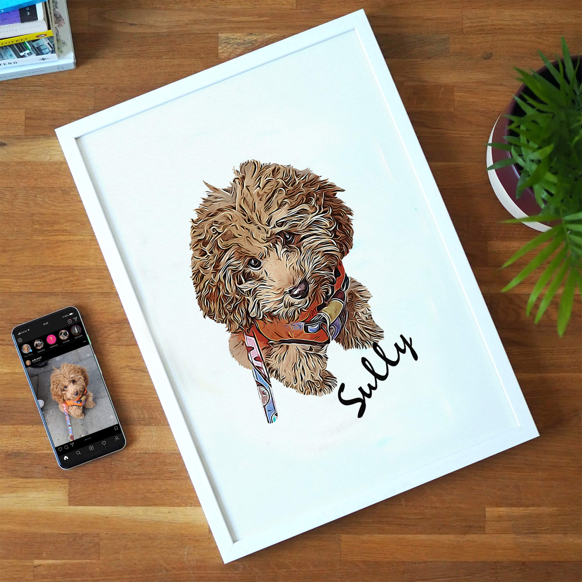 Personalised Pet Print - Text
