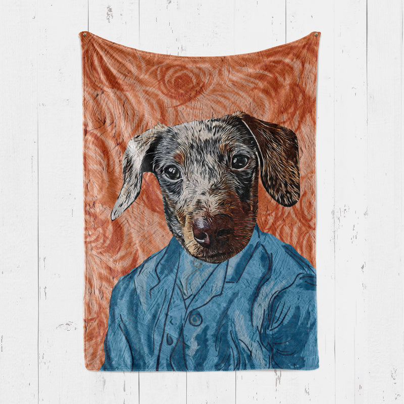 Customizable - Portrait Style Pet Blanket