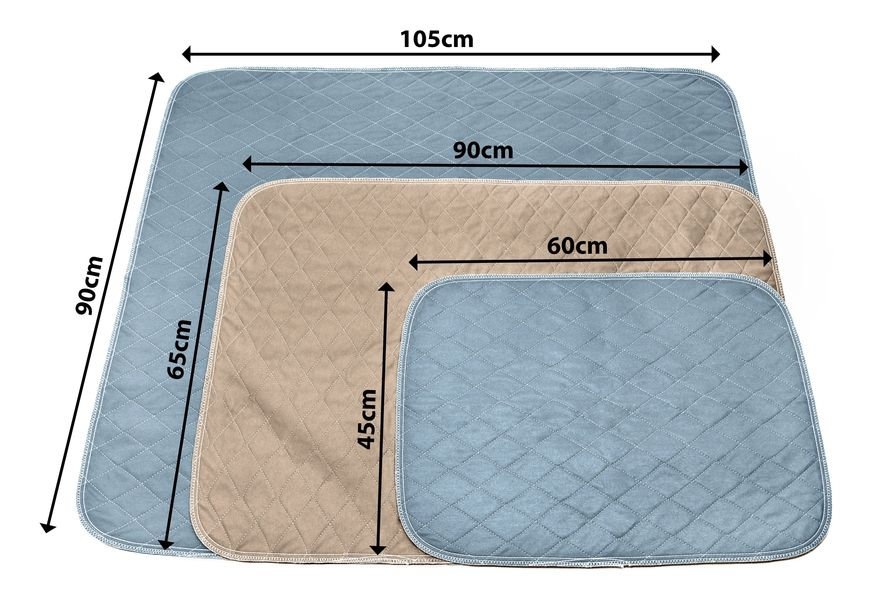 Pipco Pets Washable Puppy Pads Australia - Size Guide