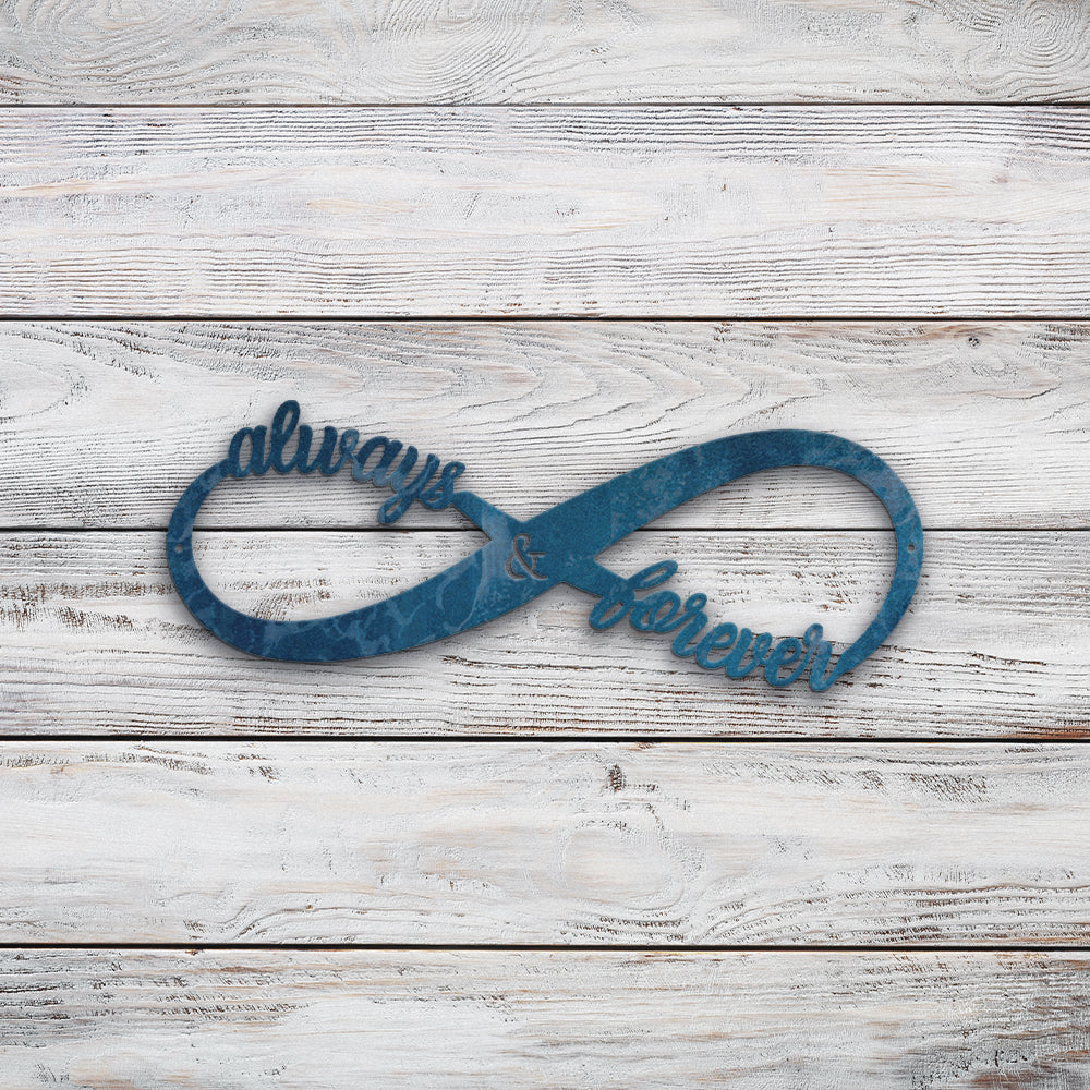 Always and forever infinity | Blue Hippo Metal Art