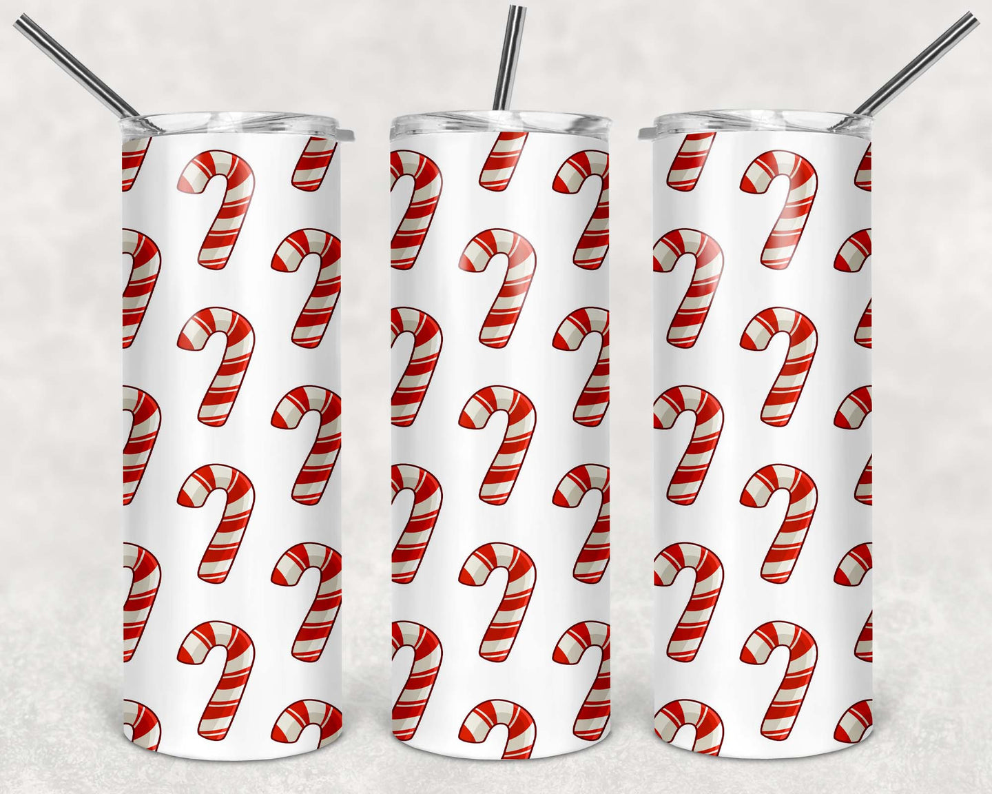20oz Tumbler - Candy Canes | Blue Hippo Metal Art