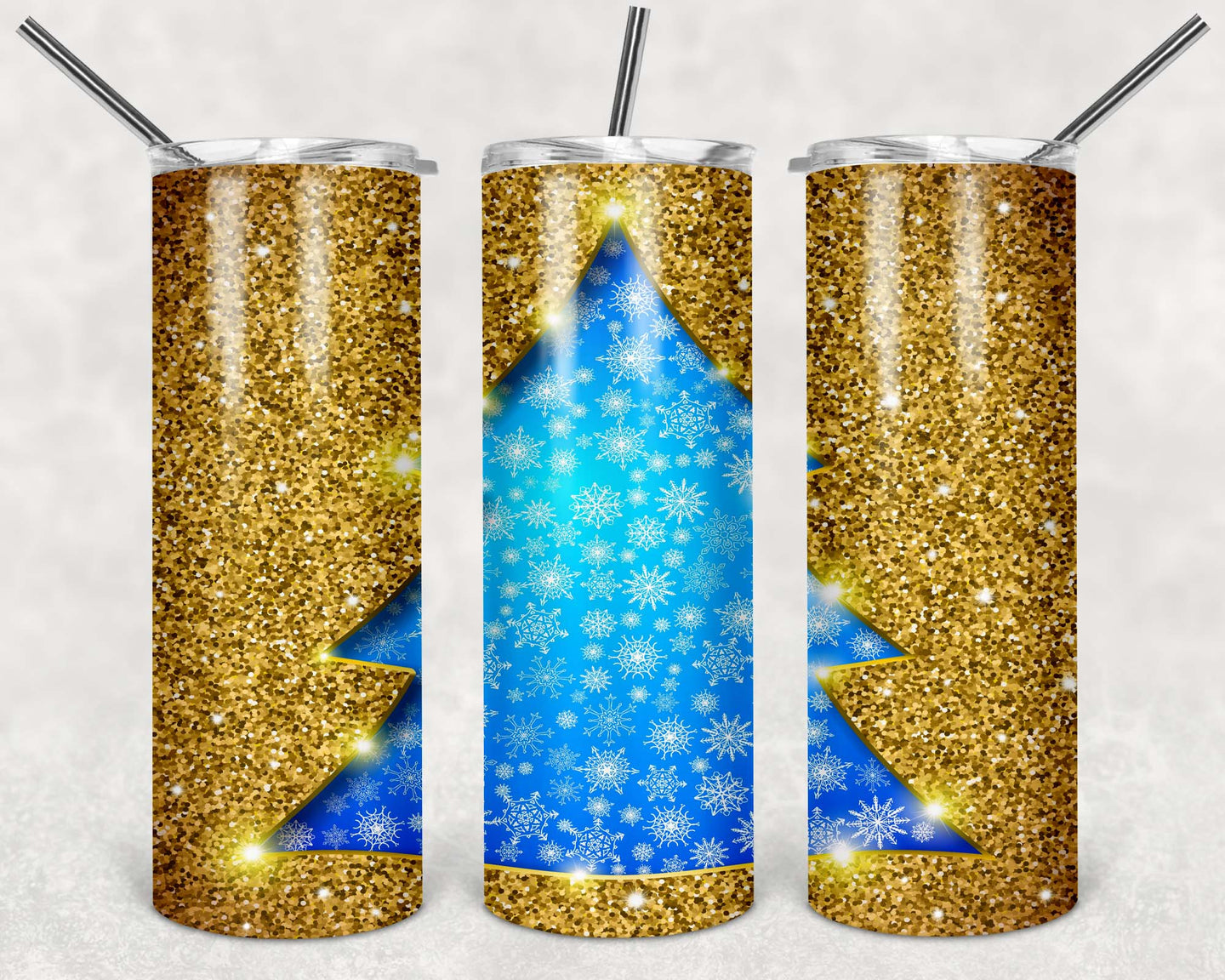 20oz Tumbler - Christmas V6 | Blue Hippo Metal Art