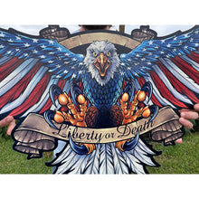 Load image into Gallery viewer, Eagle With US Flag Wings Spread | Blue Hippo Metal Art