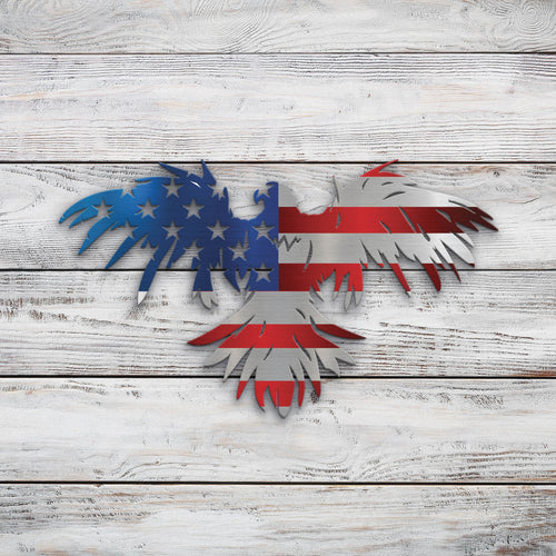 Eagle US Flag | Blue Hippo Metal Art
