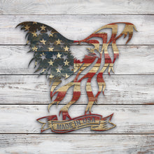 Load image into Gallery viewer, Eagle W_flag Flying made in usa