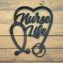 Load image into Gallery viewer, Nurse life | Blue Hippo Metal Art