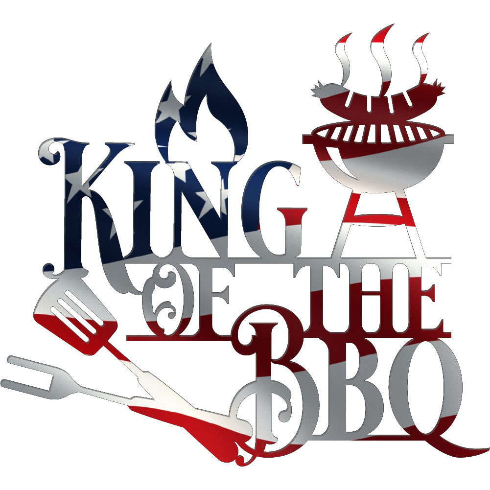 King of the BBQ | Blue Hippo Metal Art