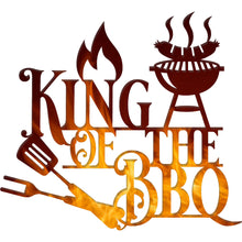 Load image into Gallery viewer, King of the BBQ | Blue Hippo Metal Art