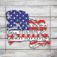 Load image into Gallery viewer, Patriotic Sign V15 | Blue Hippo Metal Art
