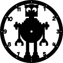 Load image into Gallery viewer, Robot Clock | Blue Hippo Metal Art