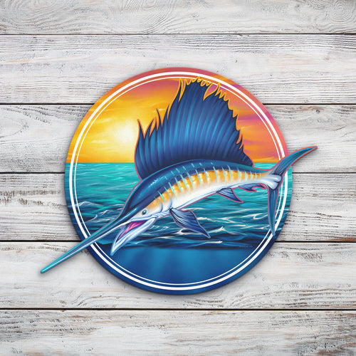 Sailfish | Blue Hippo Metal Art