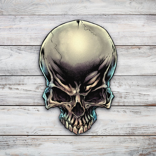 Skull | Blue Hippo Metal Art